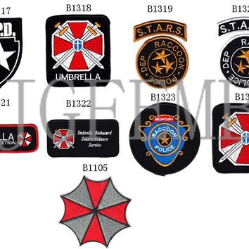 Resident Evil Umbrella Military Tactical Morale Embroidery patches