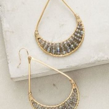 Lorica Hoops by Anthropologie in Grey Size: One Size Earrings