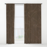 Quincy Tobacco Brown Window Curtains by deluxephotos
