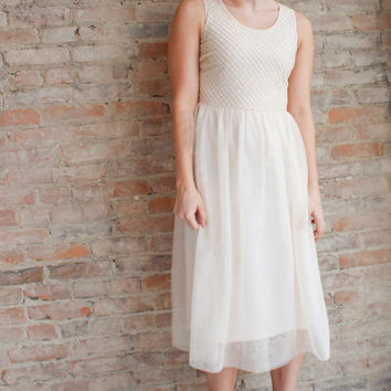 Love Story Tulle Dress - Creme