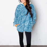 Fuzzy Pullover- Blue