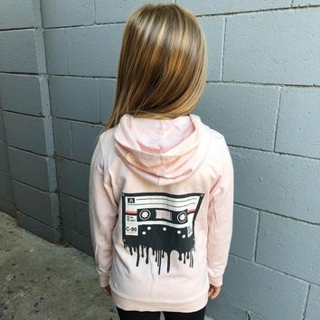Cassette Girls Zip Up Hoodie