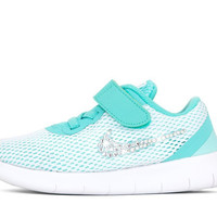 Girls' Nike Free RN - Crystallized Swarovski Swoosh - Infant/Toddler (2c-10c) - Tiffany Blue