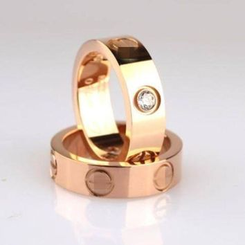 ESBONPR 3 Color Stainless Steel Gold Plated Ring Unisex's Ring Valintine's Gift