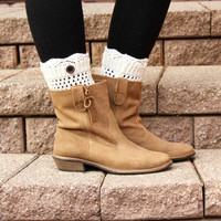 Short Ivory Boot Cuffs