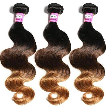 Human Hair Bundles Malaysian Body Wave 1b/4/30 Can Buy 3 or 4 Bundles SAYME Ombre Human Hair Extension Non Remy Free Shipping