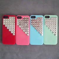 Iphone 5 case,studded iphone 5 case,Antique silver studded iphone case,studded iphone 5 case,  Hard Cover  Iphone 5 Case