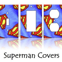 Superman Comics Light Switch Covers by KeepCalmandTurnItOn on Etsy