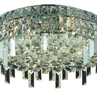 Chantal - Flush Mount (5 Light Contemporary Flush Mount Crystal Chandelier) - 1727F16