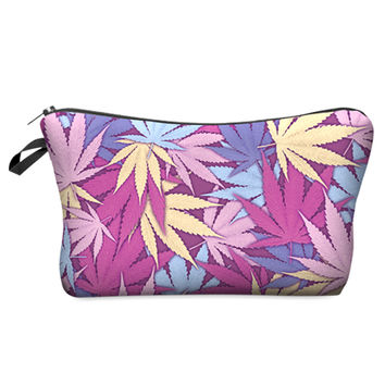 Colorful Weed Travel Stash Bag