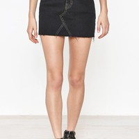 PacSun Vintage 5-Pocket Black Mini Skirt at PacSun.com