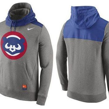 Chicago Cubs Nike MLB Gray/Blue Ultra Pullover Hoodie