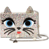 Karl Lagerfeld - Choupette embellished glittered acrylic box clutch