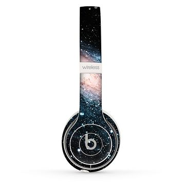 The Swirling Glowing Starry Galaxy Skin Set for the Beats by Dre Solo 2 Wireless Headphones