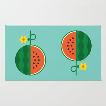 Fruit: Watermelon Rug by Christopher Dina