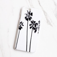 Black & White Palm Tree iPhone Case