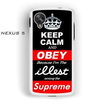 Keep Calm And Obey Illest Supreme KCCO For Nexus 4/Nexus 5 Phone case ZG
