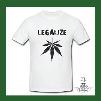 Legalize Men's T Shirt Christmas Gift funny T Shirt Weed Original Gift LOL Shirt