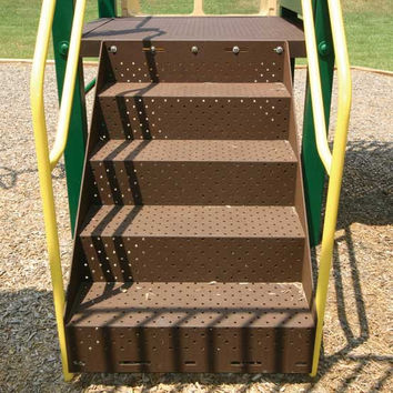 Planet Playgrounds 3' Deck Stairs w/ Rail Climber