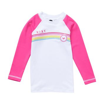 Roxy - Girls 2-6 From above Toddler LS Rashguard