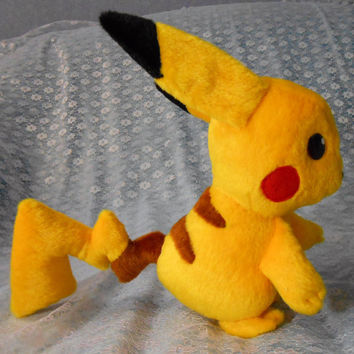 Pokemon inspired Pikachu (18 cm high) plushie made of minky, very cuddly!