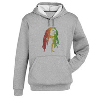 bob marley Hoodie Sweatshirt Sweater Shirt Gray and beauty variant color for Unisex size