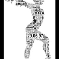 Personalised Gymnast - Sports Word Art Print. FREE UK P&P. Sports gift, Birthday, Special Occasion.