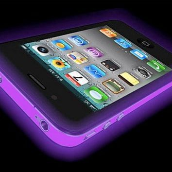 Iphone 4 GLOW IN THE DARK Case (Purple) Silicone Protective Case for iPhone 4 and 4S