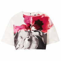 **LIMITED EDITION FLORAL PLACEMET PRINT TEE