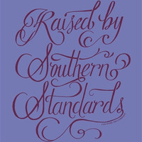 Southern Couture Raised by Southern Standards Violet Girlie Bright Tank Top Shirt