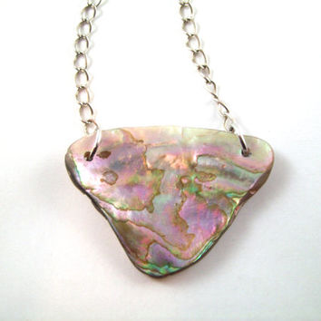 Beautiful one of a kind Abalone Shell Necklace