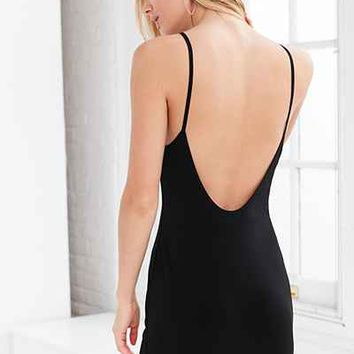 Silence + Noise Crepe Knit Backless Dress - Urban Outfitters