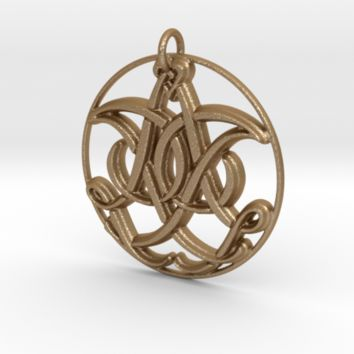 Monogram Initials IIA Pendant by CalicoFlair on Shapeways