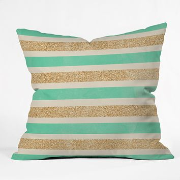 Allyson Johnson Glitter And Mint Throw Pillow