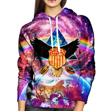 Imperial Pizza Womens Hoodie