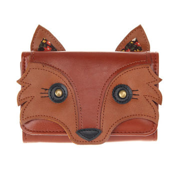 Faux Leather Fox Wallet