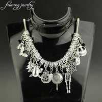 feimeng jewelry Nightmare Before Christmas Choker Necklace Party Skeleton Snowflakes Mask the Christmas Tree Necklace For Women