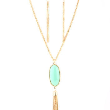 Kendra Scott Inspired Tassel Necklace