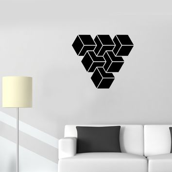 Wall Decal Abstract Decor Geometric Figure Mural Vinyl Sticker (ed1134)