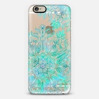 Beautiful Life - mint mandala on transparent iPhone 6 case by Micklyn Le Feuvre | Casetify