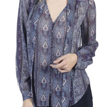 PAIGE Dion Silk Georgette Blouse | Nordstrom