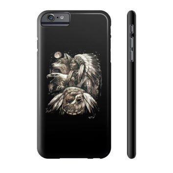 Native american eagle men Phone Case