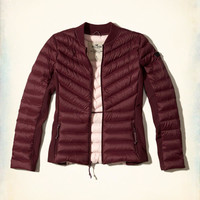 Girls Lightweight Down Puffer Jacket | Girls New Arrivals | HollisterCo.com