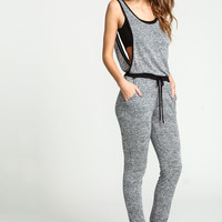 Cut Out Two Tone Knit Jumpsuit