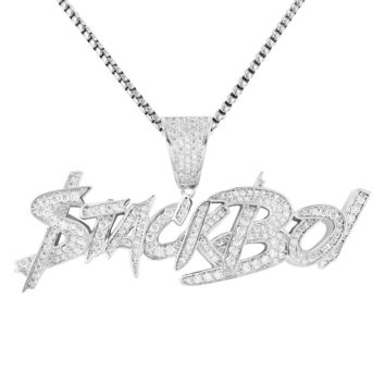 Hip Hop StackBoi Iced Out Rich Money Men's Pendant Chain