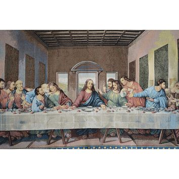 Tache 55 x 27 The Last Supper Woven Tapestry Wall Hanging Art (9148)