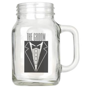 20 OZ THE GROOM GIFT MASON JAR