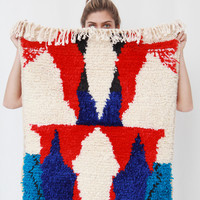 Azilal Rug D3 4 Blue & Red