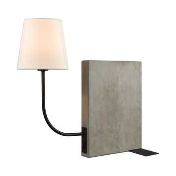 Sector Shelf Sitting Table Lamp Concrete,Oil Rubbed Bronze