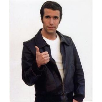 Fonzie Henry Winkler poster Metal Sign Wall Art 8in x 12in